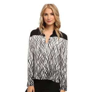 NWT BCBG Katee Long-Sleeve Printed Shirt
